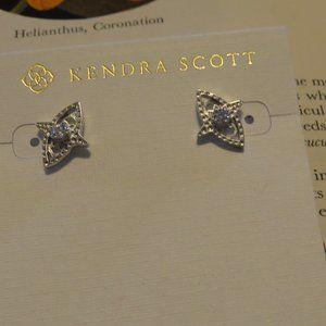 Kendra Scott Silvertone Crosby Stud Earrings NWT